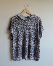 Women's No Comment Tribal Aztec Short Sleeve Shirt Size Small