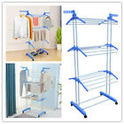 3Tier Laundry Organizer Folding Drying Rack Clothes Dryer Hanger Stand Durable