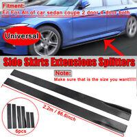 86.6'' Universal Car Side Skirt Extension Rocker Panel Splitters For Honda BMW