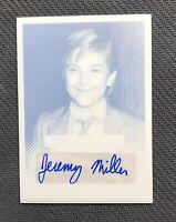 2013 LEAF POP CENTURY BEN OF GROWING PAINS JEREMY MILLER PLATE AUTO #ed 1/1