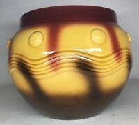 Rare Cache Pot En Barbotine De Sarreguemines H 19 D 25 cm