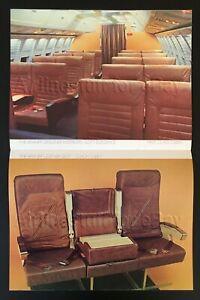 1978 BRANIFF INTL Halston Ultra 747 Concorde SST BROCHURE airlines airways ad