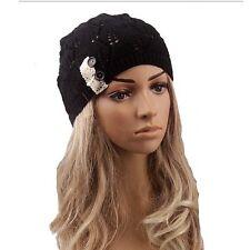 Cool Fashon Winter Warm Women Lady Crochet Ski Cap Beret Beanie Knit Crochet Hat