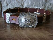 Native American Jewelry Sterling Silver Concho Belt Eugene Charley