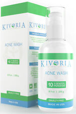 Kivoria Benzoyl Peroxide 10 % Acne Treatment Face and Body Wash, 8 Ounce