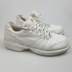 Women's BROOKS 'Walker' Sz 7.5 US Shoes White GCon Leather   3+ Extra 10% Off
