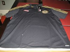 MENS ADIDAS CLIMALITE PHILADELPHIA UNION COACHES Polo Shirt XL  BLUE/GOLD NWT
