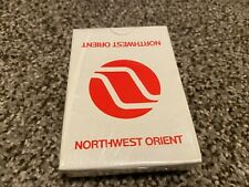 Vintage Northwest Orient Airlines Playing Cards Advertising Sealed
