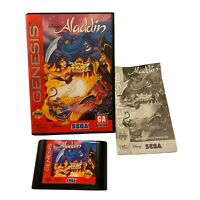 Disney's Aladdin Sega Genesis, 1993 Complete In Box With Manual Good Condition