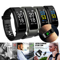 Smart Watch Sport Bracelet Heart Rate Monitor Bluetooth Headset for iOS Android
