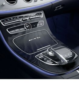 Mercedes-Benz center console E-Class W213 S213 wood ash black with AMG lettering