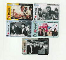 (5) Rolling Stones Rare Phone Cards