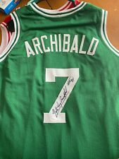 Nate Archibald HOFer Autographed Boston Celtics Jersey mult. inscriptions - JSA
