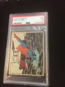 1940 Superman #20 Danger in the Jungle  Gum Inc PSA 5 FreshG Rookie Card Series