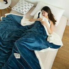Flannel Throw Blanket Bed Cover Solid Warm Soft Fleece Sofa Towel Bedspread