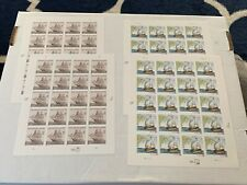 4 MNH SHIP SHEETS FV=$30.40 ! 3869 USS CONSTELLATION +4073 CHAMPLAIN SURVEYS 39c