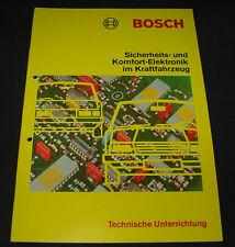 Technische Information Bosch Sicherheit Komfort Elektronik im PKW Oldtimer 1983!