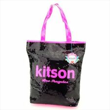 kitson Tote bag Black Pink Woman Authentic Used P748
