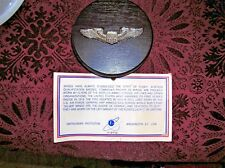PILOT FLYER'S WINGS NASM NATIONAL AIR & SPACE MUSEUM MOUNTED ON WOOD VINTAGE