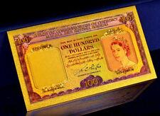 "★★ MALAYA ET BRITISH BORNEO : BILLET POLYMER  "" OR "" DU 100 DOLLARS 1953 ★★"
