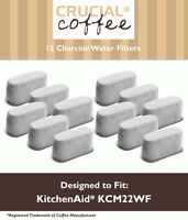 12 Replacements KitchenAid KCM222 & KCM223 Charcoal Coffee Filters Part# KCM22WF