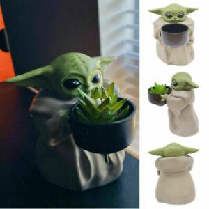 Baby Yoda Planter Pot Creative Ornament Flower Pot & Hole Xmas Birthday Gifts