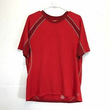 REI Short Sleeve T-Shirt Red Mens Large Active Sports Gym Outdoors Hiking Run