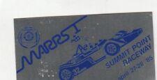 SCCA Dash Plaque MARRS 1  1985 SUMMIT POINT RACEWAY Washington D.C.