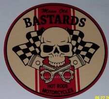 Mean Old Bastards Hot Rods & Motorcycles Vinyl Decal Sticker