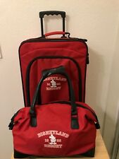 Disneyland 1955 Resort Mickey Mouse Red Duffel Rolling Suitcase Set Kids Luggage