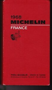 guide MICHELIN rouge FRANCE 1968