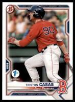 2021 Bowman 1st Edition Base #BFE-84 Triston Casas - Boston Red Sox