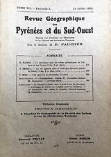 Rev.GEOGRAPHIQUE PYRENEES SUD-OUEST1936-TomeVII F3:VALLEES ADOUR/BAS-LIMOUSIN...