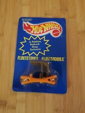 Vintag Hot Wheels Flintstones Flintmobile Blue Card 1994 Pebbles Color Changing