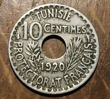 PIECE DE 10 CENTIMES TUNISIE 1920 (93)