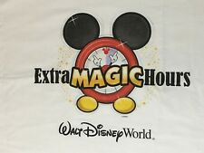 "Very Rare/HTF Mickey Mouse Disney World Pillow Case ""Extra Disney Hours"" VGC"