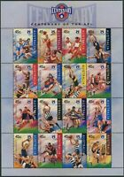 Australia 1996 SG1606-1621 Australian Rules Football sheetlet MNH
