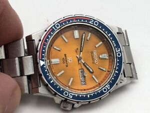 Superb Vintage March 1981 Seiko SQ 7123-823H Orange Dial 100M Divers SERVICED