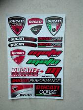 15 Sticker Aufkleber auf Bogen Ducati Corse Racing Motorsport Biker Tuning