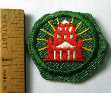 Vintage 1948-1955 Girl Scout MY COMMUNITY BADGE Neighbors Town History Patch