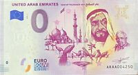 BILLET 0  EURO  UNITED ARAB EMIRATES YEAR OF TO0LERANCE   2019 NUMERO DIVERS