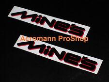 """2x8.5""""21.6cm MINE'S Decal Sticker gtr silvia evo SE-R SX ZX S15 350Z 370Z fender"""