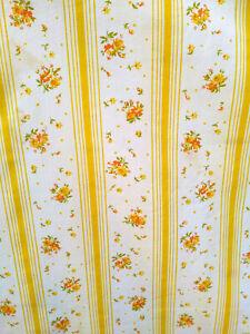 Vintage MoD Springmaid Yellow & Orange Floral Queen Sheet Set + 2 Pillowcases