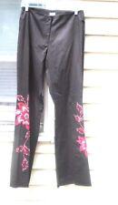 CACHE WOMEN'S NWOT Sz6 Black Stretch Embroidery Beaded Sequin Dress PANTS/Slacks
