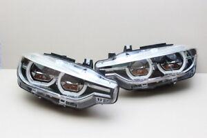 BMW Led Adaptive Headlight 3 Series F30 F31 LCI AHL Pair Genuine