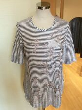 Olsen Top Size 20 Brown Winter White Copper Striped Now