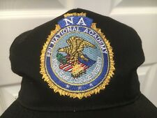 FBI NATIONAL ACADEMY TRUE VINTAGE SNAPBACK EMBROIDERED BLACK CAP HAT MADE IN USA