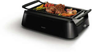 Philips Avance Collection Indoor Smoke-Less Grill, Black - HD6371/94