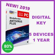 CHIAVE di attivazione [] Bitdefender ANTIVIRUS PLUS 2018, 2019: 1 anno, 5 dispositivi