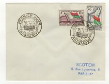 République Malgache 2 timbres sur lettre FDC 1959 tampon Tananarive /L547